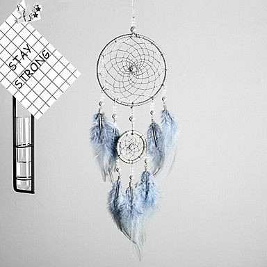 Handmade Dream Catchers With Feather Wall Hanging Home Decoration Ornament Decor Ornament