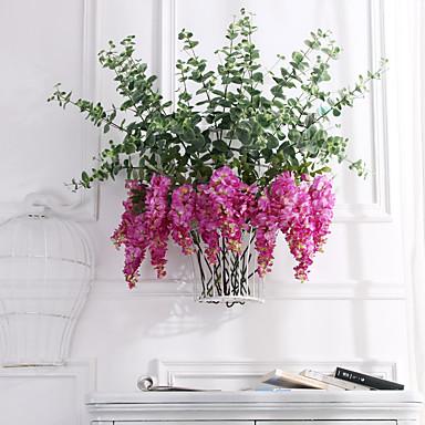 ดอกไม้ประดิษฐ์ 1 สาขา คลาสสิก เกี่ยวกับยุโรป สไตล์เรียบง่าย ม่วง ดอกไม้นิรันดร์ ดอกไม้ประดับผนัง