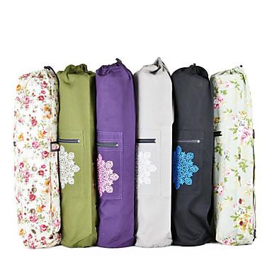 โรงยิมกระเป๋า / กระเป๋าถือ - โยคะ, Pilates โยคะ หนังผ้าใบ สีม่วงเข้ม, เทาอ่อน, สีน้ำเงินเข้ม
