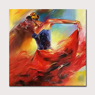 povoljno Ulja na platnu-mintura® velika veličina ručno oslikana djevojka lik ulje na platnu moderne apstraktne zid umjetnosti slika za uređenje doma ne uramljena
