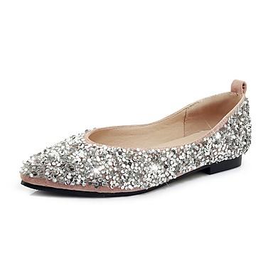 สำหรับผู้หญิง รองเท้าส้นเตี้ย ส้นแบน Square Toe PU หวาน / Preppy ฤดูร้อนฤดูใบไม้ผลิ สีดำ / สีเหลือง / สีชมพู / งานแต่งงาน / พรรคและเย็น