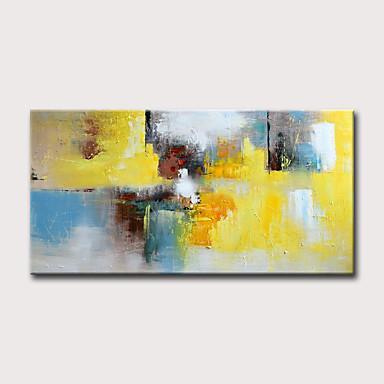 povoljno Ulja na platnu-Hang oslikana uljanim bojama Ručno oslikana - Sažetak Cvjetni / Botanički Klasik Moderna Bez unutrašnje Frame / Valjani platno