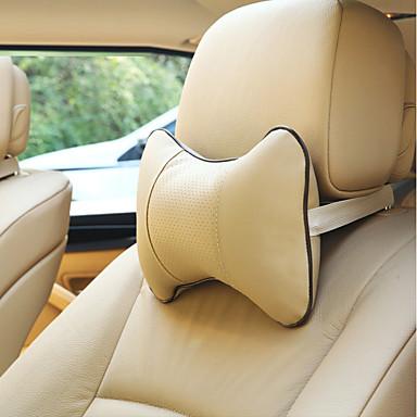 levne Doplňky do interiéru-1pair auto na krk polštář hlavy opěrky hlavy kostí polštář děrování design pu kůže opěrky hlavy auto bezpečnostní příslušenství