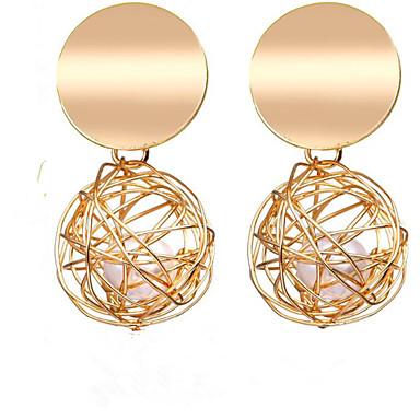 povoljno Modne naušnice-Žene Viseće naušnice Retro Sretan Stilski Pozlaćeni Naušnice Jewelry Zlato Za Dar Dnevno 1 par