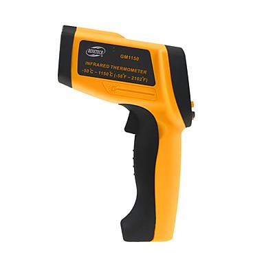 voordelige Test-, meet- & inspectieapparatuur-gm1150 contactloze 12: 1 lcd-scherm ir infrarood digitale temperatuur pistool thermometer-30 ~ 1150c (-58 ~ 2102f) 0.1 ~ 1.00 verstelbare
