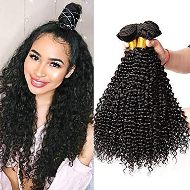 povoljno Ekstenzije od ljudske kose-6 paketića Brazilska kosa Kinky Curly Virgin kosa Ljudske kose plete Bundle kose Jedan Pack Solution 8-28inch Prirodna boja Isprepliće ljudske kose novorođenče Waterfall Sladak Proširenja ljudske kose