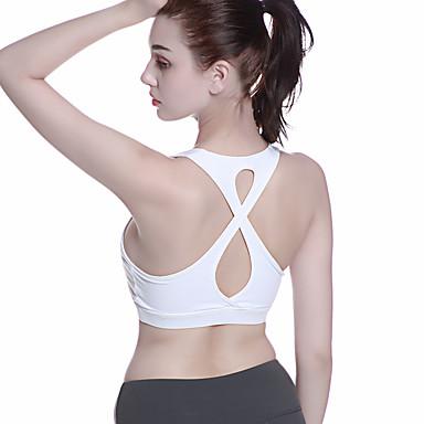 ชุดทำงาน เสื้อ / Yoga สำหรับผู้หญิง การฝึกอบรม / Performance ไนลอน / Elastane กากะบาท / แบนเอด / ขวิด เสื้อไม่มีแขน ชุดชั้นใน