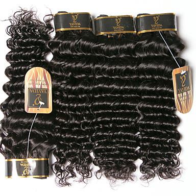 povoljno Ekstenzije od ljudske kose-6 paketića Brazilska kosa Duboko Val Virgin kosa Ljudske kose plete Produžetak Bundle kose 8-28 inch Prirodna boja Isprepliće ljudske kose Waterfall Nježno novi Proširenja ljudske kose