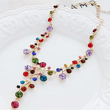 povoljno Modne ogrlice-Žene Y Ogrlica Rese Duga slatko Moda Zircon Reciklirani papir Krom Duga 50 cm Ogrlice Jewelry 1pc Za Dnevno Ulica