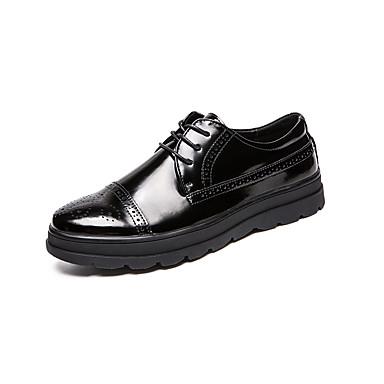 สำหรับผู้ชาย รองเท้าสบาย ๆ หนังเทียม / หนังสิทธิบัตร ฤดูร้อนฤดูใบไม้ผลิ ไม่เป็นทางการ / อังกฤษ รองเท้า Oxfords ระบายอากาศ สีดำ / พู่ / พรรคและเย็น / พู่ / พรรคและเย็น