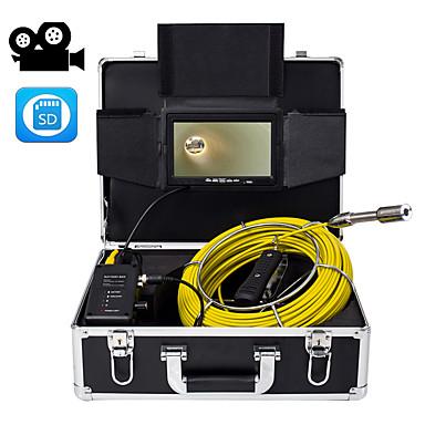 levne Mikroskopy a endoskopy-23 mm objektiv průmyslový endoskop 20m pracovní délka opravy auto opravy potrubí opravy 7-palcový displej s videokamerou
