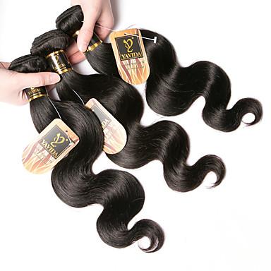 povoljno Ekstenzije od ljudske kose-3 paketa Indijska kosa Tijelo Wave 100% Remy kose tkanja Bundle Ljudske kose plete Bundle kose Jedan Pack Solution 8-28 inch Prirodna boja Isprepliće ljudske kose Nježno Najbolja kvaliteta Rasprodaja