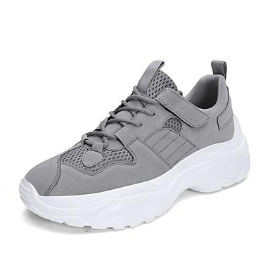 สำหรับผู้ชาย Fashion Boots PU ฤดูร้อนฤดูใบไม้ผลิ ไม่เป็นทางการ / Preppy รองเท้าผ้าใบ วสำหรับเดิน ความสูงเพิ่มมากขึ้น รองเท้าบู้ทหุ้มข้อ สีดำ / สีเทา / สีกากี / กลางแจ้ง / Light Soles
