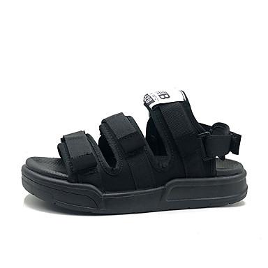 สำหรับผู้หญิง รองเท้าแตะ รองเท้าบู้ทส้นเตารีด เส้นใยสังเคราะห์ ฤดูร้อน สีดำ