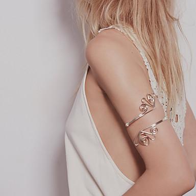 levne Dámské šperky-Dámské Tělové ozdoby 8 cm Manžeta / Arm Chain Zlatá / Stříbrná Circle Shape Jednoduchý / Základní / Punk Slitina Kostýmní šperky Pro Párty / Denní / Street Letní