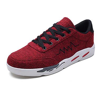 สำหรับผู้ชาย รองเท้าสบาย ๆ Synthetics ฤดูร้อนฤดูใบไม้ผลิ ไม่เป็นทางการ รองเท้าผ้าใบ วสำหรับเดิน สวมหลักฐาน Drak Red / ฟ้า / สีเทา / กลางแจ้ง