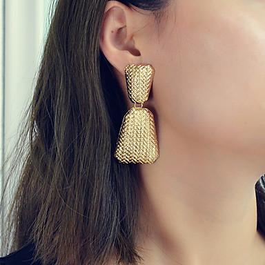สำหรับผู้หญิง Drop Earrings ทางเรขาคณิต Stylish อินเทรนด์ เท่ห์ ต่างหู เครื่องประดับ ทอง สำหรับ ปาร์ตี้ ทุกวัน เทศกาล 1 คู่