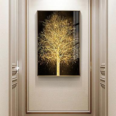 povoljno Uokvirena umjetnost-zlatno stablo botanički otisci luksuzni stil uramljena zid umjetnosti