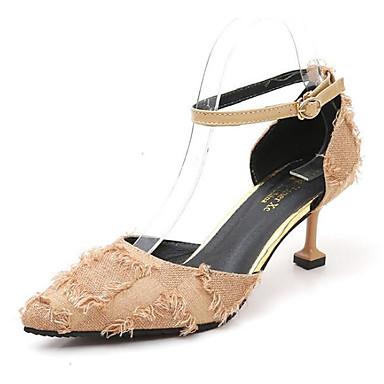 สำหรับผู้หญิง รองเท้าส้นสูง ส้น Stiletto หนังนิ่ม ฤดูใบไม้ผลิ สีดำ / สีเหลือง / แดง / ทุกวัน