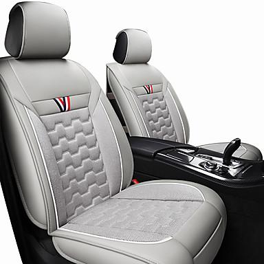 preiswerte Innenraum Autozubehör-Autositzkissen Sitzbezüge schwarz / rot / orange / schwarzes Polyestergewebe / Leder common / business für alle Jahre