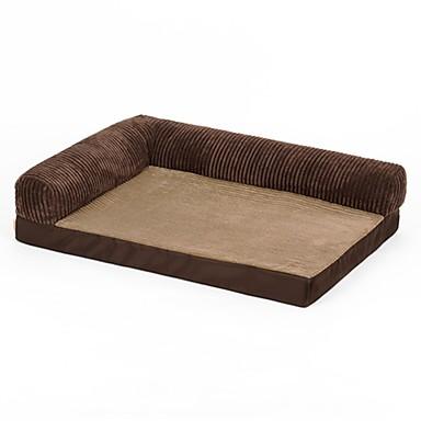 สุนัข สัตวืเลี้ยงมีขนตัวเล็กๆ เบาะที่นอน ที่นอน ผ้าห่มเตียง ผ้าออกซ์ฟอร์ด สัตว์เลี้ยง เสื่อ & แผ่นปู สีพื้น รักษาให้อุ่น ซักได้ การ์ตูน สีน้ำตาล