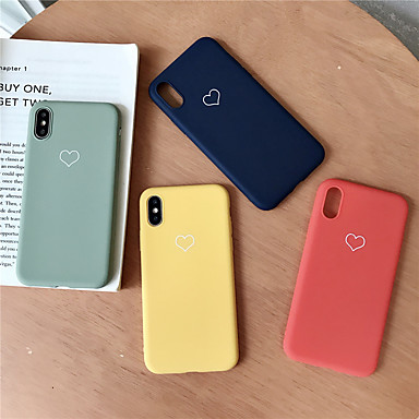povoljno iPhone maske-Θήκη Za Apple iPhone XS / iPhone XR / iPhone XS Max Uzorak Stražnja maska Srce Mekano TPU