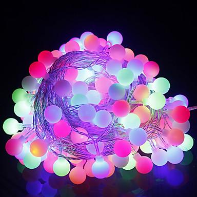10เมตร ไฟสาย 100 ไฟ LED ขาวนวล / RGB Creative / ปาร์ตี้ / ตกแต่ง 220-240 V 1pc / IP44