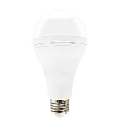1pc 12 W หลอด LED กลม 510-610 lm E26 / E27 25 ลูกปัด LED ฉุกเฉิน ขาวเย็น 85-265 V