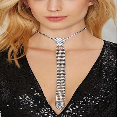 povoljno Modne ogrlice-Žene Duga ogrlica Rese Mašnice Jedinstven dizajn Moda Zircon Kamen Glina Pink 45 cm Ogrlice Jewelry 1pc Za Vjenčanje Praznik