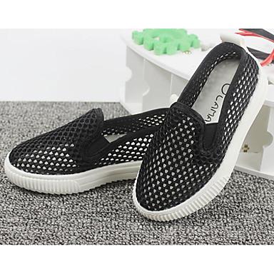 เด็กผู้ชาย ความสะดวกสบาย ตารางไขว้ รองเท้าส้นเตี้ยทำมาจากหนังและรองเท้าสวมแบบไม่มีเชือก เด็กวัยหัดเดิน (9m-4ys) / เด็กน้อย (4-7ys) สีดำ / สีเขียว / สีชมพู ฤดูใบไม้ผลิ
