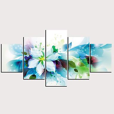 Print พิมพ์ผ้าใบรีด - แอ็ปสแต็ก ลวดลายดอกไม้ / เกี่ยวกับพฤษศาสตร์ คลาสสิก ที่ทันสมัย ห้าภาพ ศิลปะภาพพิมพ์