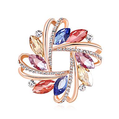 สำหรับผู้หญิง เข็มกลัด Creative Flower เกี่ยวกับยุโรป แฟชั่น สี เข็มกลัด เครื่องประดับ ส้ม ฟ้า หลากสี สำหรับ งานแต่งงาน ของขวัญ ทุกวัน