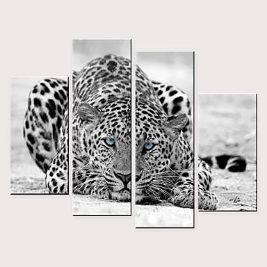 Print พิมพ์ผ้าใบรีด - สัตว์ต่างๆ ที่ทันสมัย สี่ภาพ ศิลปะภาพพิมพ์