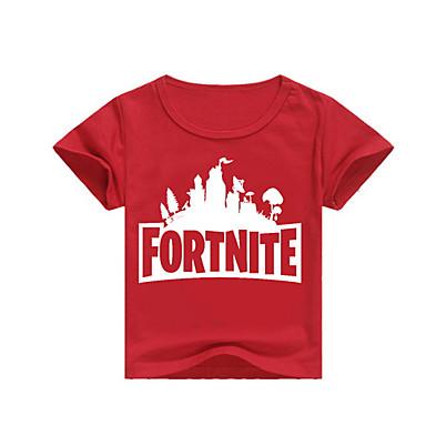 povoljno Odjeća za dječake-Djeca Dječaci Ulični šik Print Print Kratkih rukava Majica s kratkim rukavima Blushing Pink