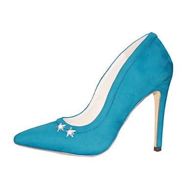 สำหรับผู้หญิง รองเท้าส้นสูง ส้น Stiletto Pointed Toe ขนเทียม หวาน ฤดูใบไม้ผลิ & ฤดูใบไม้ร่วง สีดำ / สีเหลือง / ฟ้า / ทุกวัน