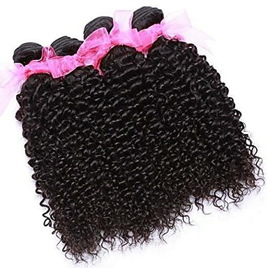 povoljno Ekstenzije od ljudske kose-6 paketića Brazilska kosa Kinky Curly 100% Remy kose tkanja Bundle Ljudske kose plete Bundle kose Jedan Pack Solution 8-28 inch Prirodna boja Isprepliće ljudske kose Nježno Rasprodaja Moda Proširenja