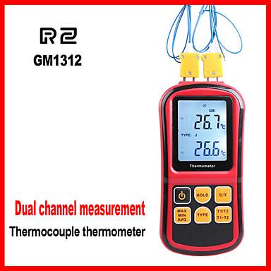 levne Testovací, měřící a kontrolní vybavení-rz1312 digitální termočlánkový teploměr pro termočlánky j, k, t, e, n, s a r