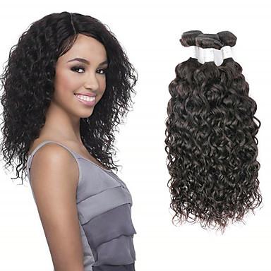 povoljno Ekstenzije od ljudske kose-3 paketa Brazilska kosa Water Wave Netretirana  ljudske kose Ljudske kose plete Ekstenzije od ljudske kose tkati 8-28 inch Prirodna boja Isprepliće ljudske kose Cosplay Nježno Najbolja kvaliteta