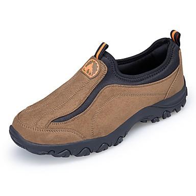 สำหรับผู้ชาย รองเท้าผ้าใบ รองเท้าเดินป่า กันน้ำ ระบายอากาศ ป้องกันการลื่นไถล สบาย การเดินเขา เดินเท้า ฤดูใบไม้ร่วง ฤดูใบไม้ผลิ สีดำ สีน้ำตาล อาร์มี่ กรีน สีเทา