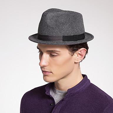 ผ้าขนสัตว์รู้สึก หมวก กับ Color Block 1 ชิ้น สวมใส่ทุกวัน / Kentucky Derby หูฟัง