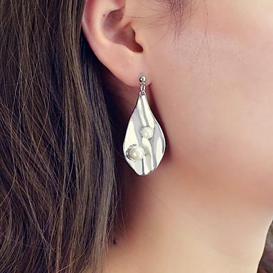 สำหรับผู้หญิง Drop Earrings Körte หล่น Stylish อินเทรนด์ ที่ทันสมัย ค้อนทุบ ไข่มุก ต่างหู เครื่องประดับ สีเงิน สำหรับ ปาร์ตี้ ทุกวัน เทศกาล 1 คู่