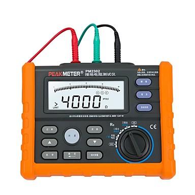 levne Testovací, měřící a kontrolní vybavení-špičkový pm2302 digitální zemní odpor odpor tester metr 0 ohm až 4k ohm 100 skupin záznam dat s podsvícením