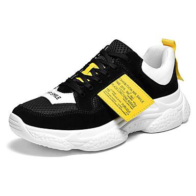 สำหรับผู้ชาย รองเท้าสบาย ๆ หนังหมู ฤดูหนาว รองเท้ากีฬา สำหรับวิ่ง สีดำ / สีเทา
