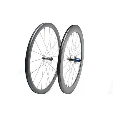 FARSPORTS 700CC ชุดล้อ จักรยาน 25 mm ถนน คาร์บอนไฟเบอร์ ยางงัด / ที่รองรับการทำงานของยาง 20/24 Spokes 38 mm / 60 mm