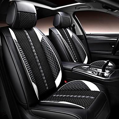 levne Doplňky do interiéru-5 sedadel pu kůže a ledu hedvábí čtyři sezóny univerzální potah sedadla / kompatibilita airbagů / nastavitelná a odnímatelná