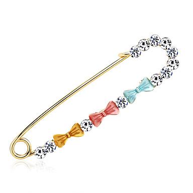 สำหรับผู้หญิง เข็มกลัด Creative Flower เกี่ยวกับยุโรป แฟชั่น เข็มกลัด เครื่องประดับ สีทอง หลากสี สำหรับ งานแต่งงาน ของขวัญ ทุกวัน