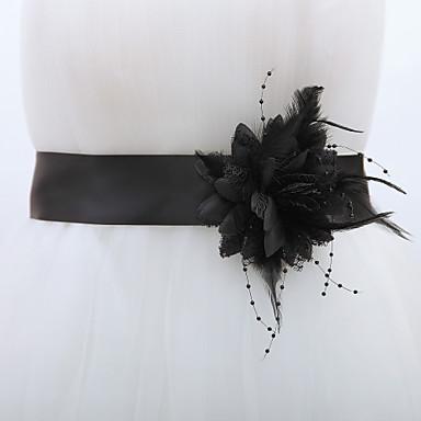 Polyester / Polyamide งานแต่งงาน / งานปาร์ตี้ / งานราตรี สายสะพาย กับ ดอกไม้ สำหรับผู้หญิง ผ้าคาดเอว