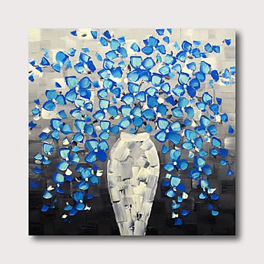 ภาพวาดสีน้ำมันแขวนทาสี มือวาด - แอ็ปสแต็ก ลวดลายดอกไม้ / เกี่ยวกับพฤษศาสตร์ ร่วมสมัย ที่ทันสมัย รวมถึงด้านในกรอบ / ผ้าใบยืด