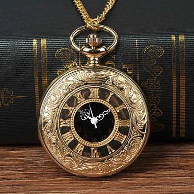 levne Pánské-Pánské Kapesní hodinky Křemenný Zlatá Hodinky na běžné nošení Velký ciferník Analogové Módní - Zlatá