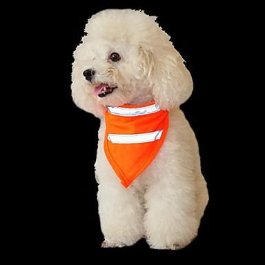 สุนัข แมว เครื่องประดับ ผ้าพันคอสุนัข Dog Clothes ส้ม สีเหลือง เครื่องแต่งกาย ปั๊ก Bichon Frise Schnauzer Terylene สีพื้น ง่าย / ประจำวัน สไตล์เรียบง่าย S M L
